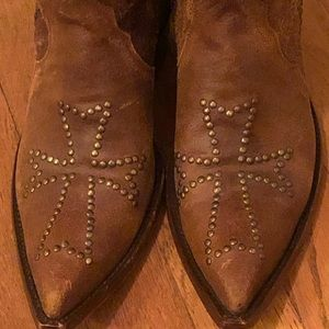 OLD GRINGO Oh My God distressed brown boots